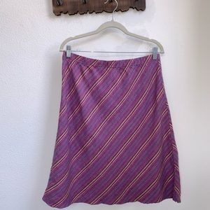 Vintage J.Jill | Linen Striped Skirt